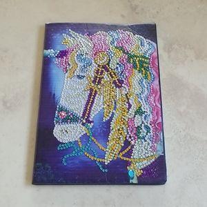 Jeweled Soft Leather Unicorn Notebook/Journal NWOT